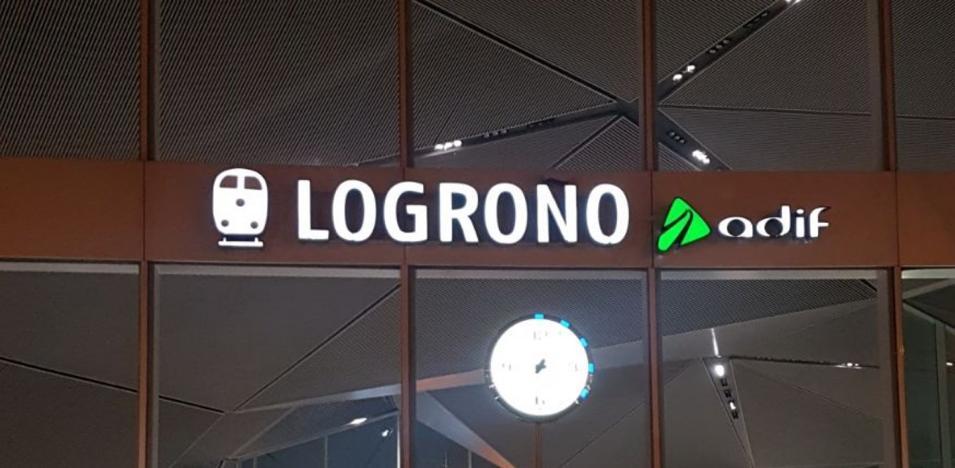 Sin la vírgula de Logroño en la estación