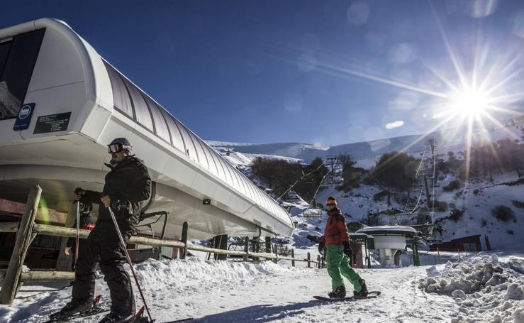 Primer día de esquí en Valdezcaray