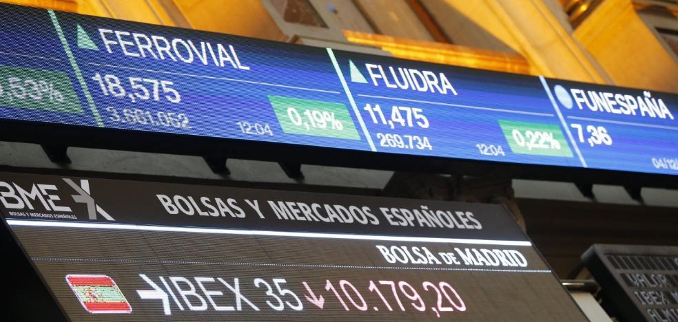 El Ibex cae el 0,27% y pierde los 10.200 puntos lastrado por la banca