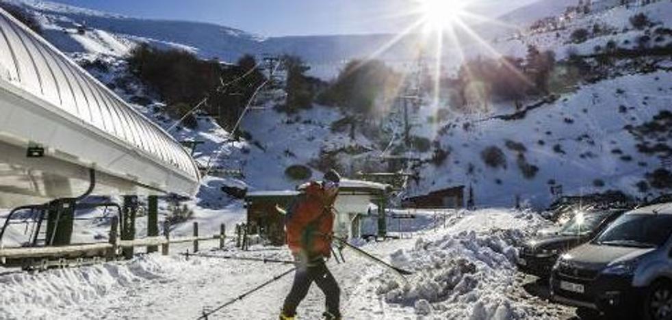 Valdezcaray coge los esquís