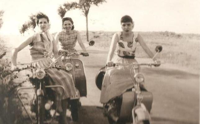 Motoristas de Calahorra en los años 60
