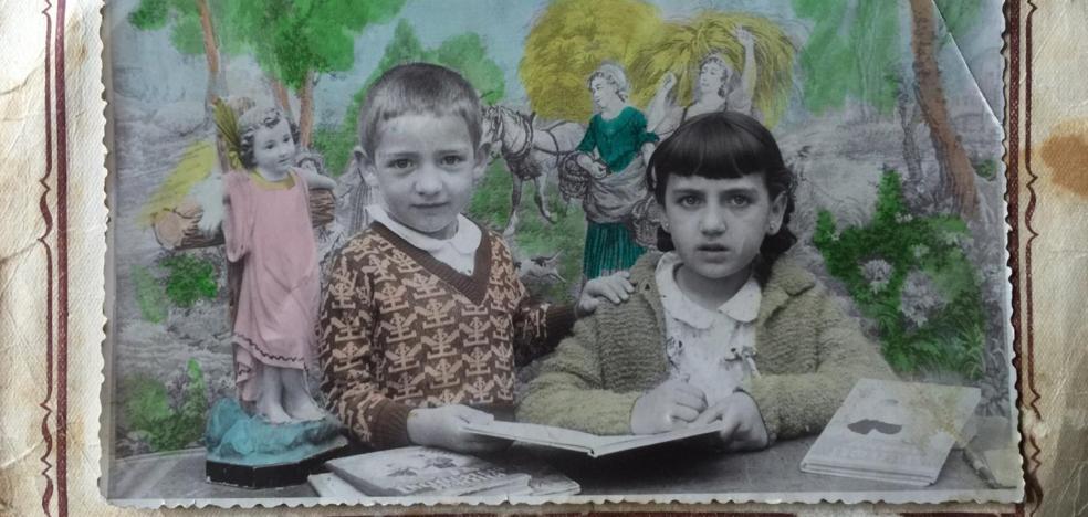 La Retina: dos escolares de Cervera en el curso 59/60