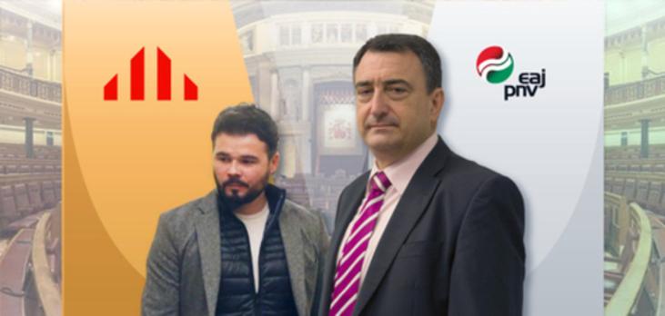 Los periodistas castigan a Gabriel Rufián y premian a Aitor Esteban