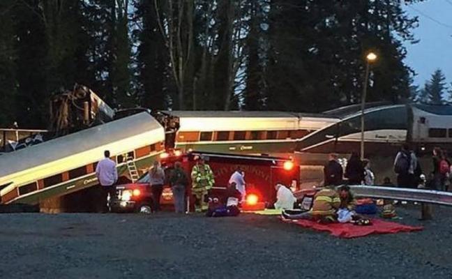 Seis muertos al descarrilar un tren cerca de Seattle
