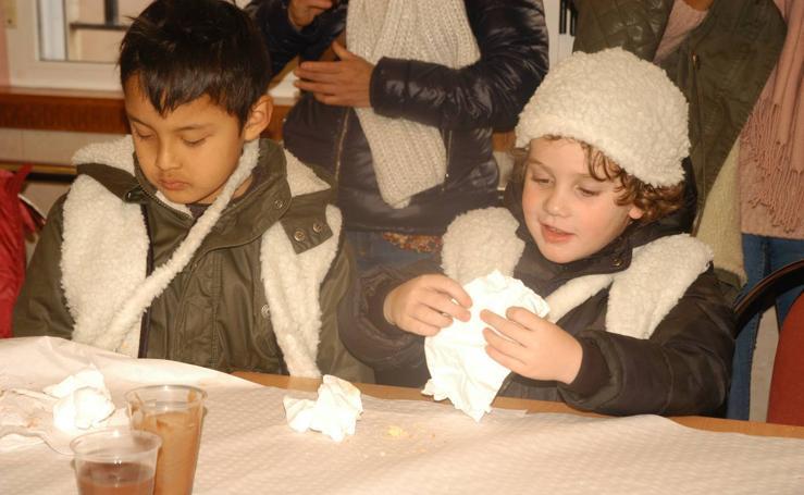 Chocolatada de los niños del CRA Alhama de Cervera