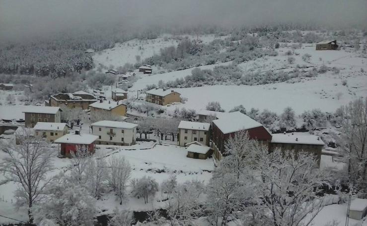 La nevada del domingo en La Rioja