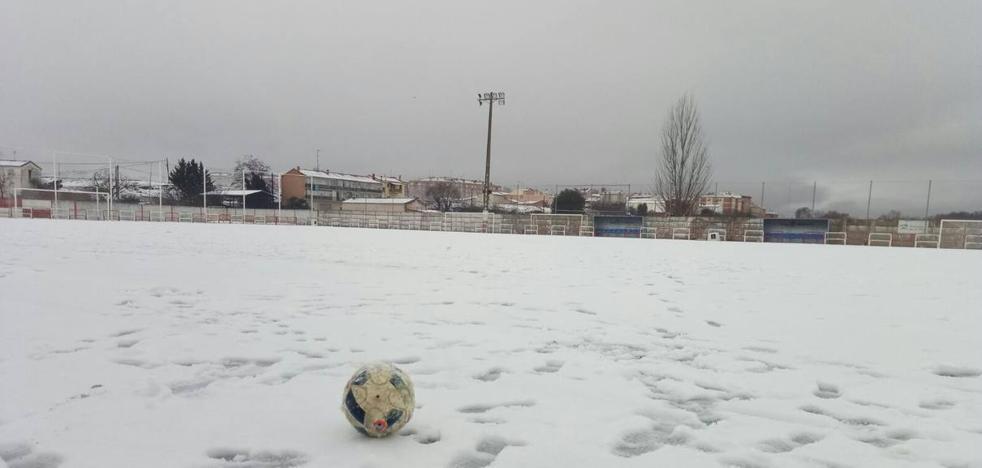 La nieve suspende competiciones deportivas por toda La Rioja