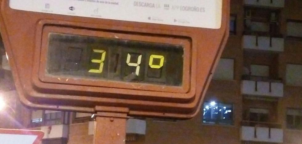 A treinta y cuatro grados en Logroño