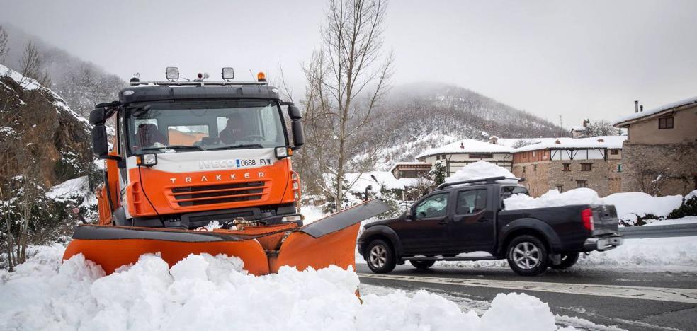 El SOS Rioja 112 atendió una llamada por minuto por las nevadas del fin de semana