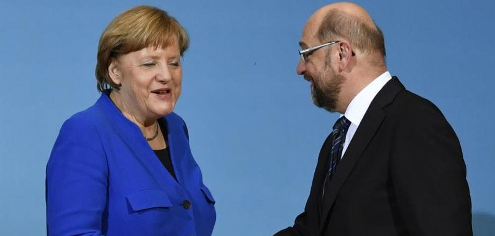 Merkel y Schulz confirman el preacuerdo para una gran coalición