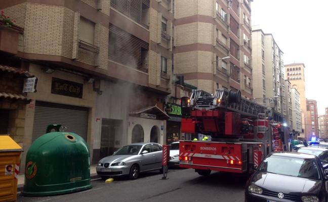 Incendio en un restaurante de la calle Vitoria logroñesa