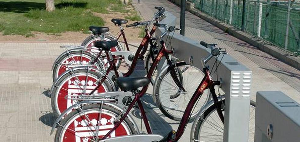 Comienzan las obras de 20 estaciones del nuevo sistema de préstamo de bicis de Logroño