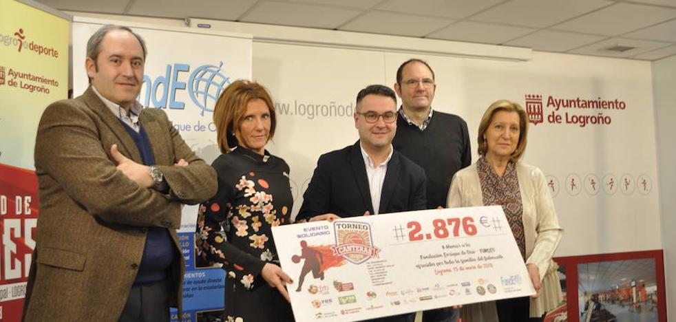 El Torneo de Canteras de 'Logroño Deporte' recauda 2.876 euros para 'Fundeo' La Rioja