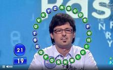 El alfareño Moisés Laguardia vuelve al concurso televisivo 'Pasapalabra' de Telecinco
