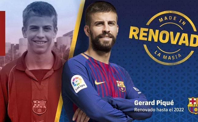 Piqué renueva con el Barcelona hasta 2022