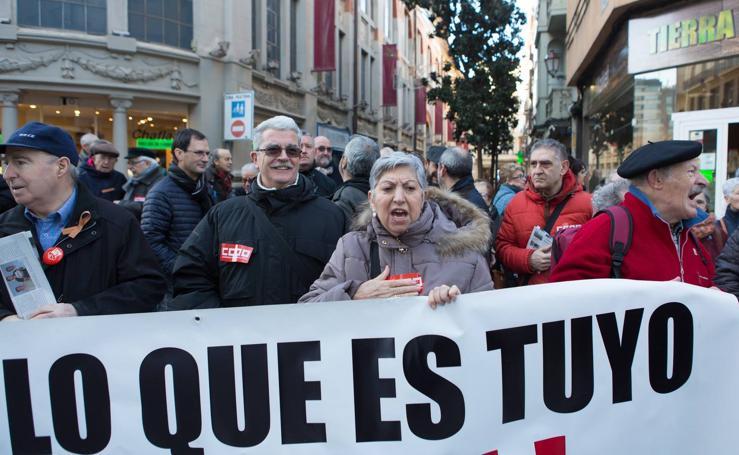 """Protesta en Logroño por """"la vergonzosa subida de las pensiones"""""""