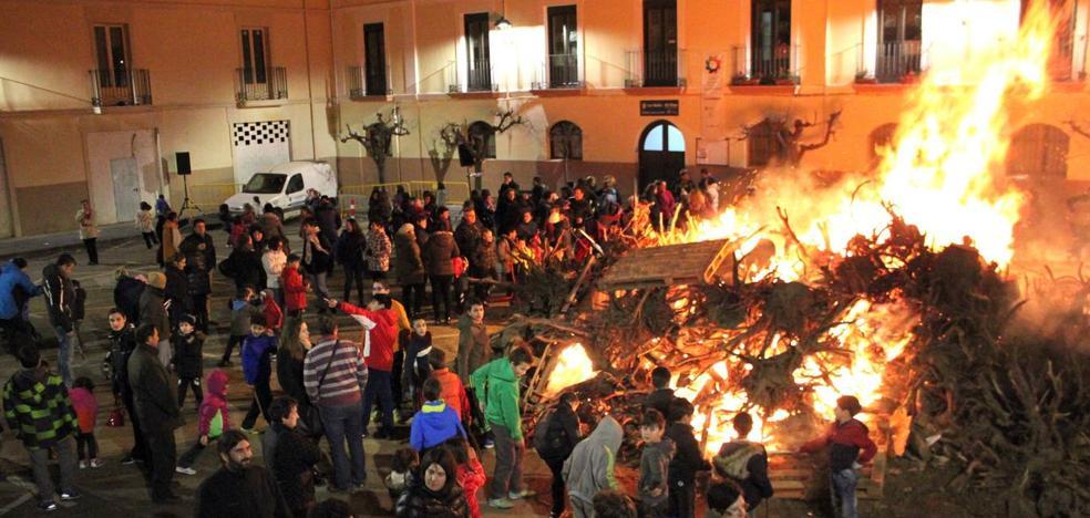 Hogueras de San Antón, en Alfaro