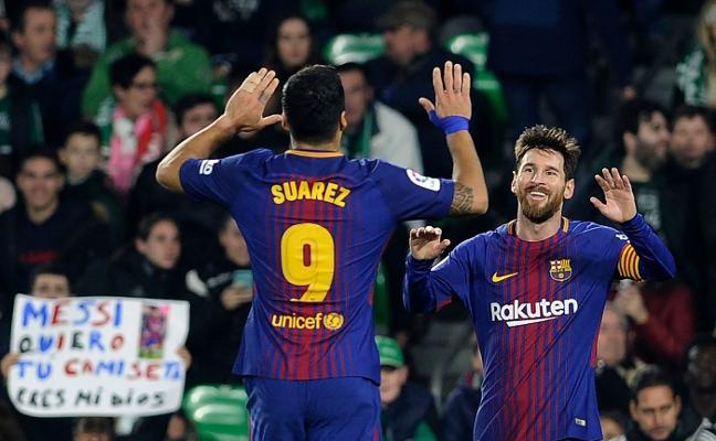 El Barça tritura al Betis y a sus perseguidores
