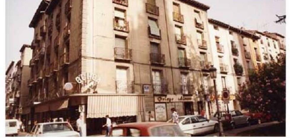 La Retina: foto antigua de la plaza del Mercado