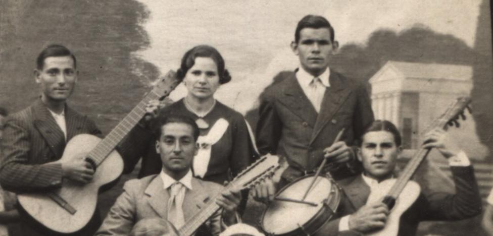 La Retina: jóvenes de Valgañón hacia 1935