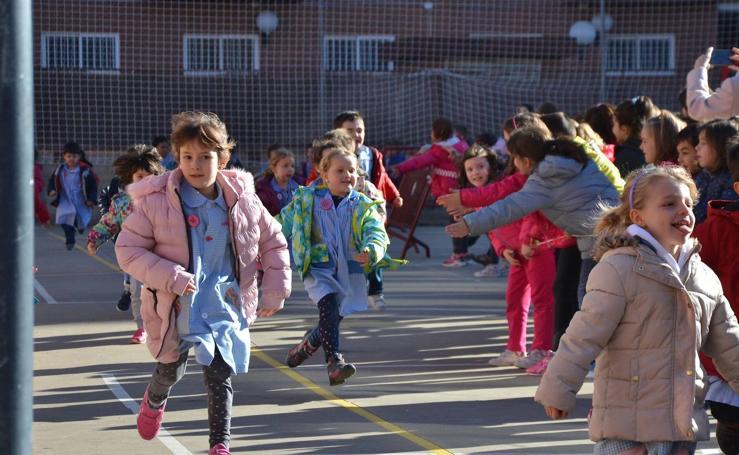 Carrera solidaria en el colegio Gonzalo de Berceo de Logroño