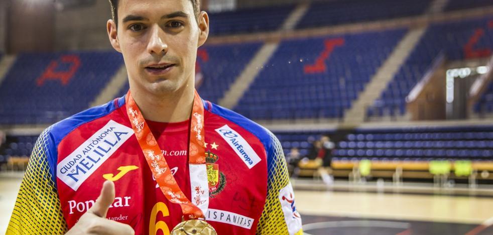 Ángel Fernández y su oro ya están en Logroño