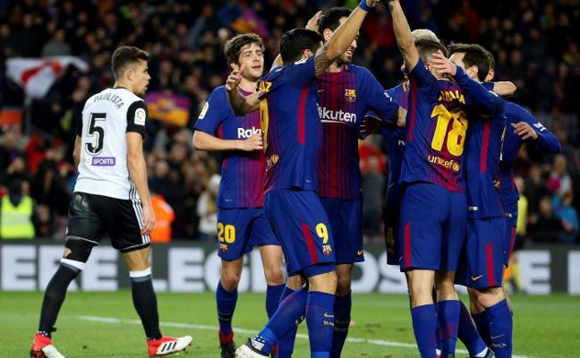 El Barcelona deja vivo al Valencia