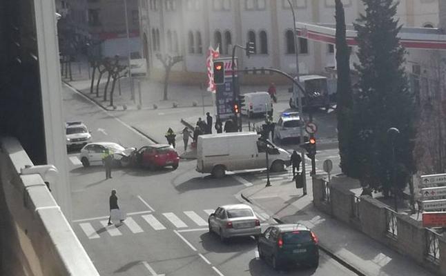 Cinco mujeres heridas en un accidente en Calahorra