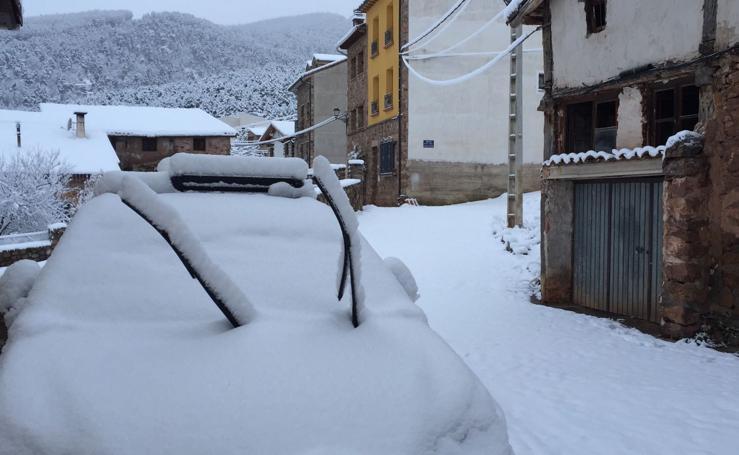 Domingo: nieve en La Rioja
