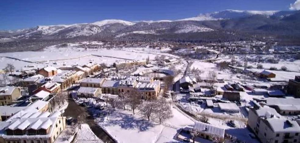 El temporal de nieve, a vista de dron