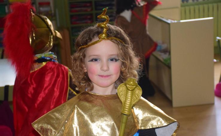 Los niños del colegio Las Gaunas de Logroño celebran el Carnaval