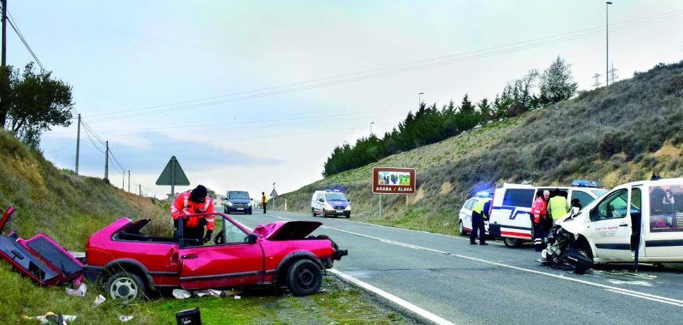 Una logroñesa de 46 años fallece en un accidente en el límite entre La Rioja y Álava