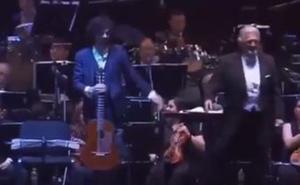 Sáinz Villegas y Plácido Domingo, juntos en un concierto en Chile