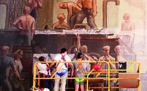 Cambia pide una solución para los murales de la antigua estación