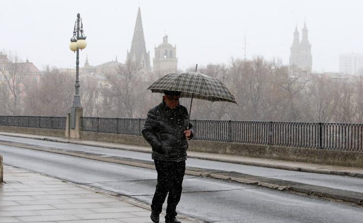 Frío y nieve en Logroño