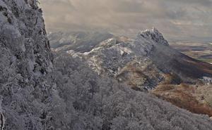 Paisajes nevados en La Rioja