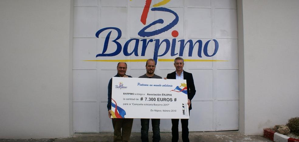La campaña solidaria de Barpimo en Nájera logra 7.300 euros para Enjipai