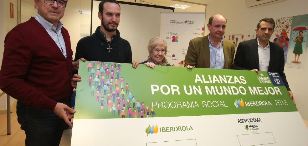 Iberdrola renueva su apoyo a un proyecto de Asprodema con otros 40.000 euros