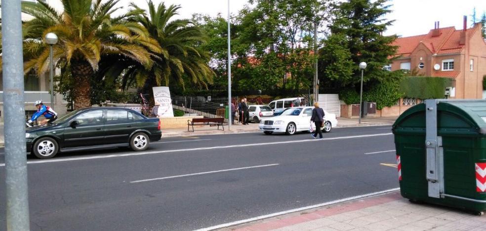 Paso de cebra para avenida de Madrid