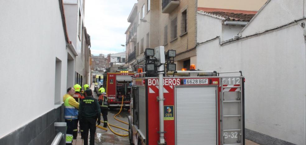 Incendio en un piso de la alfareña calle Valvanera