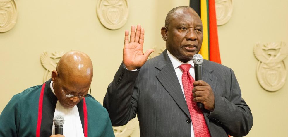 Sudáfrica saluda a Cyril Ramaphosa