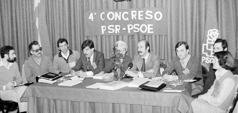 La cúpula del PSOE riojano, en 1981