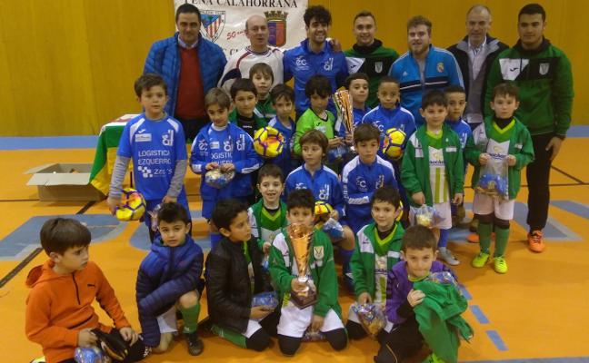 Fiesta del fútbol sala infantil en Calahorra