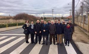 Mejoras en la carretera entre El Villar y Pradejón