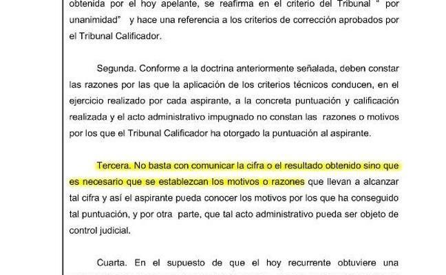 El TSJR obliga a revisar una prueba de un opositor a subinspector de la Policía Local