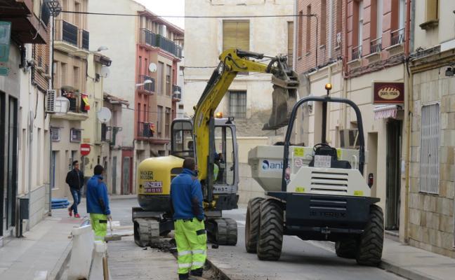 Las obras del colector cierran al tráfico Tudela y Trasmuro