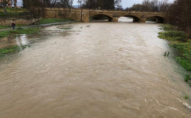 Alerta en Haro y su comarca por las crecidas de los ríos Ebro y Oja