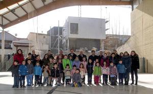 Ceniceros visita las obras del nuevo colegio de Medrano