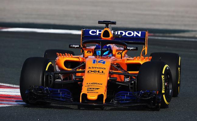 Alonso ya rueda en Los Arcos