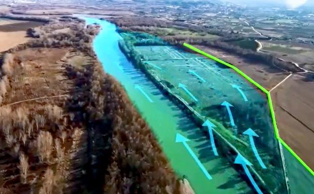 La CHE retranqueará tres mazones en el Ebro para evitar inundaciones